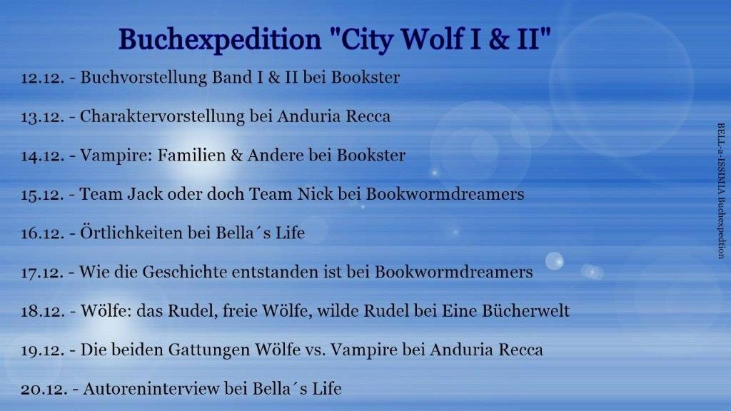 "Buchexpedition ""CityWolf I & II"""