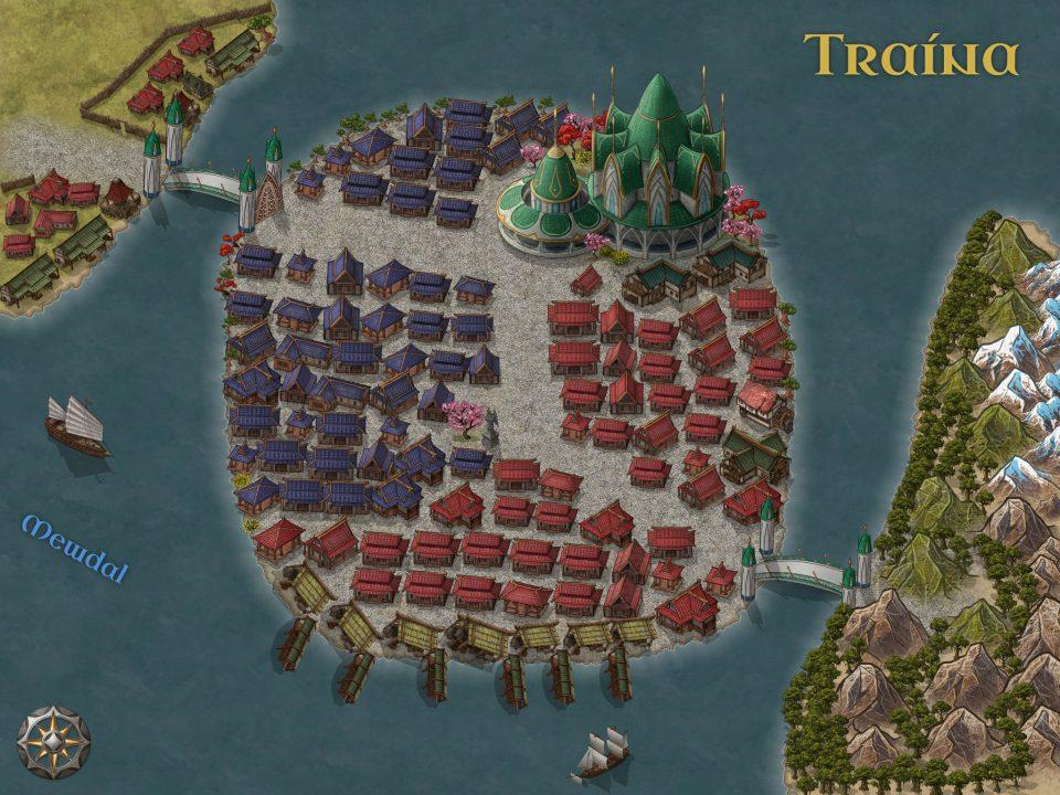 Stadtplan von Traína